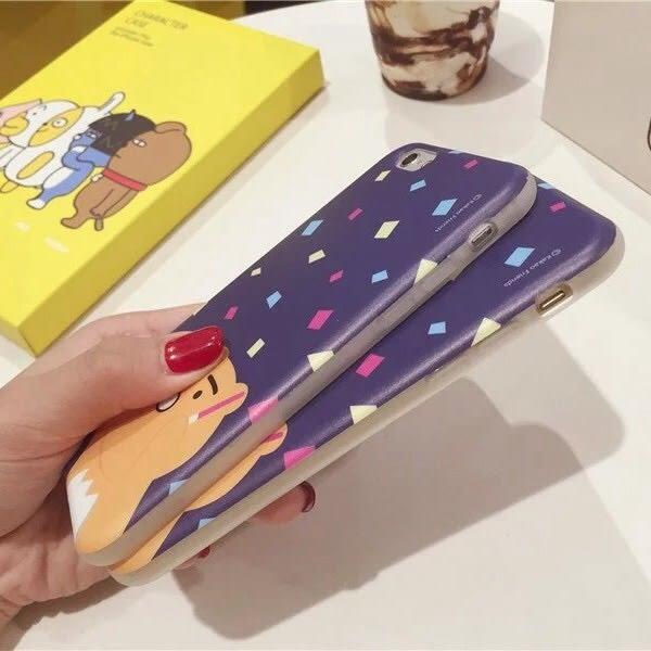 iPhone手機殼 拿螢光棒慶祝的可愛小熊 IMD不掉色工藝 磨砂軟殼全包 蘋果iPhone6手機殼