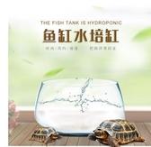 桌面創意玻璃魚缸小型客廳圓形水培加厚迷你金魚家用龜缸大號圓球