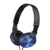 【送收納袋】SONY MDR-ZX310 智慧型手機適用 耳罩式耳機 繽紛五色藍色