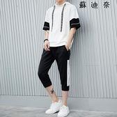 男短袖連帽t恤運動男裝衣服夏裝