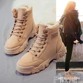 馬丁靴新款馬丁靴2020秋冬季百搭棉鞋加絨時尚雪地女靴短靴學生女鞋冬款 7月特賣