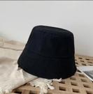 漁夫帽 女春夏百搭純色帽子女韓版潮防曬遮陽帽小眾個性網紅水桶帽【快速出貨八折搶購】