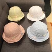 女寶寶遮陽帽12公主可愛漁夫帽0-6個月1歲3潮