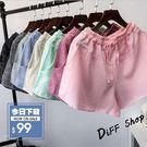 【DIFF】 2018新款夏季韓版格子短褲 闊腿褲 休閒褲 寬褲【P74】