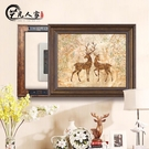 美式電錶箱裝飾畫可推拉配電箱遮擋壁畫多媒...