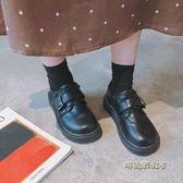 原宿小皮鞋女學生韓版百搭ulzzang大頭鞋復古日系軟妹娃娃單鞋潮「時尚彩虹屋」