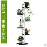 室內落地多肉實木陽台植物多功能臥室裝飾(黑色 白色架)