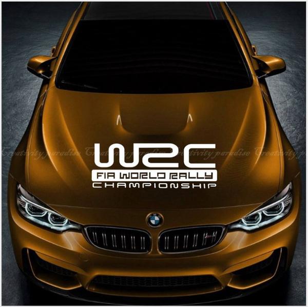 【WRC貼】汽車用裝飾貼 車門側門引擎蓋貼紙 保險桿車身腰線拉花防水貼