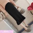 針織魚尾裙 2020年新款秋冬百搭高腰荷葉邊針織半身裙女中長款顯瘦包臀魚尾裙 裝飾界