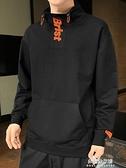 連帽T恤男秋冬季2020新款潮流寬松百搭ins潮牌男裝加絨加厚保暖上衣 牛年新年全館免運