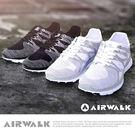 【AIRWALK】幾何線條編織慢跑鞋-黑色
