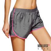 Mollifix瑪莉菲絲 絕對好動撞色運動短褲 (灰)