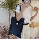 熱賣牛仔包 牛仔側背包手提袋帆布包女今年流行日韓大學生上課包包 coco