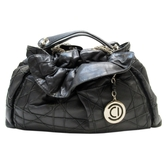 Dior 迪奧 黑色小牛皮銀鍊肩背包 Le Trente Bag【二手名牌 BRAND OFF】