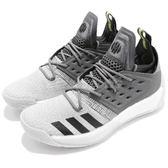 adidas 籃球鞋 Harden Vol.2 Concrete 白 灰 BOOST中底 哈登 男鞋 運動鞋【PUMP306】 AH2122