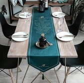 桌旗北歐桌旗現代簡約輕奢餐桌布電視柜茶幾鞋柜絲絨美式桌旗蓋布床旗 聖誕交換禮物