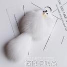 超萌小狐貍鑰匙扣可愛狐貍毛掛飾女包包汽車裝飾品鑰匙扣毛絨掛件 依凡卡時尚