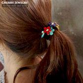 繽紛小花造型髮束 10240【櫻桃飾品】【10240】