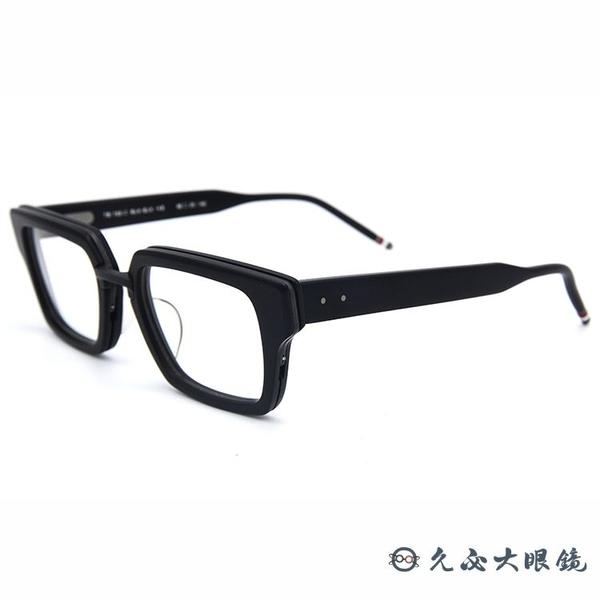 Thom Browne 眼鏡 粗框款 方框 近視眼鏡 TB703 霧黑 久必大眼鏡