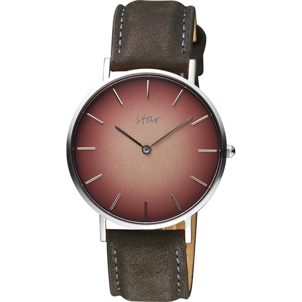 STAR 時代 城市情人漸層石英女錶-咖啡x灰色錶帶/36mm 7T1902-331S-CGR