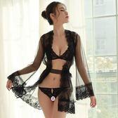 情趣內衣三點式網紗睡裙激情套裝火辣蕾絲開檔露乳睡衣zzy7269 『時尚玩家』