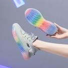 運動鞋 鞋女鞋夏季透氣2020新款軟底輕便夏果凍跑步休閒運動鞋子
