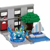 【日本KAWADA河田】NanoblockPLUS積木-神奇寶貝/寶可夢 小水蛙的遊艇碼頭 PP-004