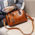 手提包  包包女潮韓版百搭斜背包後背手提真皮女包時尚波士頓女包 科技藝術館