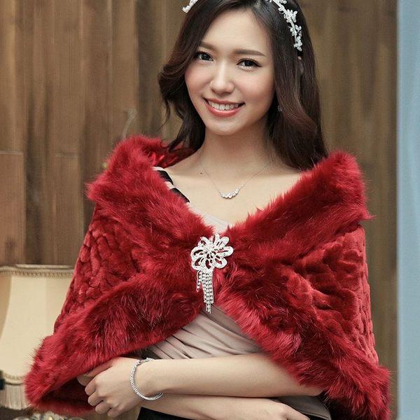 鑽石配飾超柔加厚豹紋仿皮草保暖禮服搭配披肩~美之札