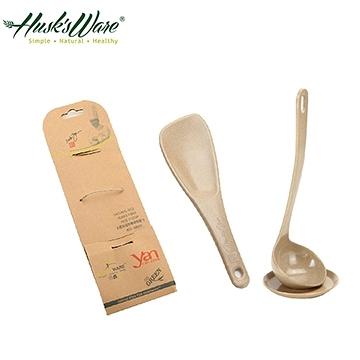 【南紡購物中心】【Husk's ware】美國Husk's ware稻殼環保飯匙+湯匙組