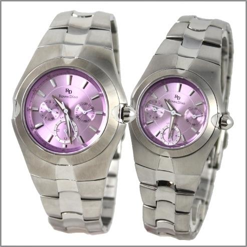 【萬年鐘錶】 Roven Dino 羅梵迪諾 楊丞琳代言 三眼對錶淺紫 RD9801-RD9802