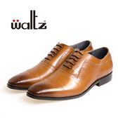 Waltz-沖孔雕花牛津紳士鞋212144-06(棕)