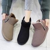 雪地靴-雪地靴女新款時尚冬季加厚棉鞋厚底短筒短靴平底保暖麵包鞋潮 東川崎町