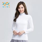 【WIWI】MIT溫灸刷毛立領發熱衣(純淨白 女S-2XL)