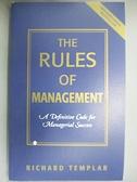 【書寶二手書T6/傳記_GGO】The Rules Of Management: An Irreverent Guide