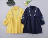 韓版女童新款女孩衣服兒童裝中大童公主裙子女大童洋氣連身裙 居享優品