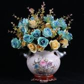 仿真花 束絹花插花擺件餐桌假花干花盆栽裝飾塑料花藝 BF10887『男神港灣』