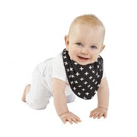 【紐西蘭Mum 2 Mum】時尚造型口水巾圍兜-加號/黑