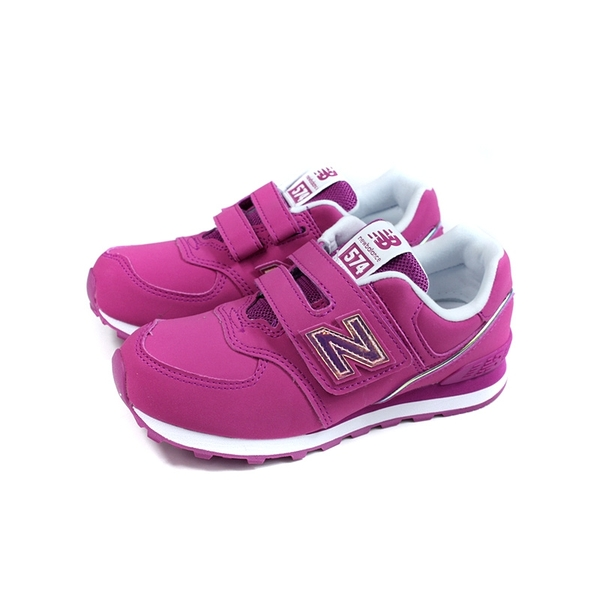 New Balance 574系列 運動鞋 復古鞋 紫紅色 魔鬼氈 童鞋 YV574MTP-W no848
