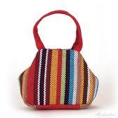 民族風包包女小拎包糖果色女款帆布手機零錢包 中老年女包買菜包