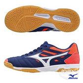 美津濃 MIZUNO 兒童足球鞋 SALA CLASSIC 2 Jr IN (藍橘) 兒童室內足球鞋 Q1GC175214【 胖媛的店 】