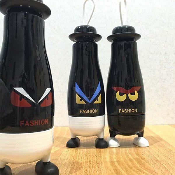 水杯【KCG114】憤怒眼睛腳腳造型手提玻璃杯380ml水瓶 瓶子 保溫 咖啡杯 隨行杯 水壺-123ok