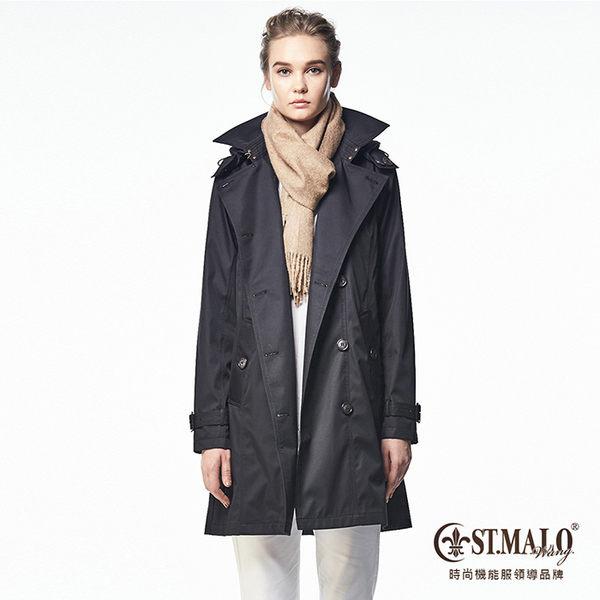 【ST.MALO】歐美經典高機能蓄暖風衣-1665WC-永夜黑