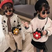 韓版小包寶寶側背斜背包可愛公主花朵時尚兒童零錢包【聚寶屋】