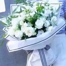 韓式白玫瑰自然花束--情人花束.生日花束.聖誕花束