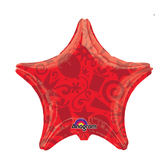19吋星星鋁箔氣球(不含氣)-慶祝-紅