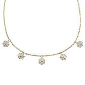 SWAROVSKI 施華洛世奇 LISABEL璀璨水晶六角形可調節金色項鍊頸鍊 5380108