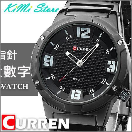 立體鉚釘鏤空指針個性錶 / 特殊龍頭設計 / 大數字 / CURREN 卡瑞恩 【KIMI store】