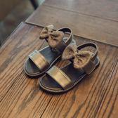公主鞋 兒童鞋子蝴蝶結公主鞋女童涼鞋小童寶寶學步鞋沙灘鞋【巴黎世家】