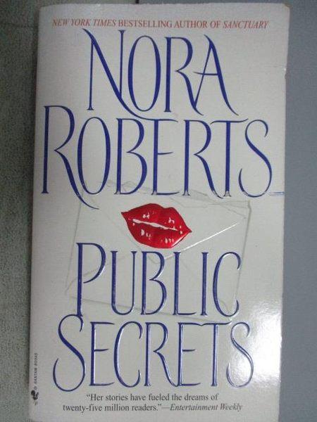【書寶二手書T6/原文小說_MLS】Public Secrets_Nora Roberts